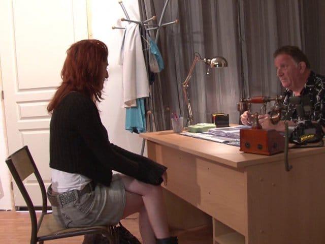 Premier casting X femme rousse gourmande de sexe